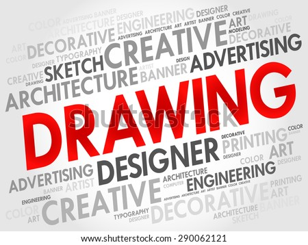 DRAWING word cloud, business concept - stock vector