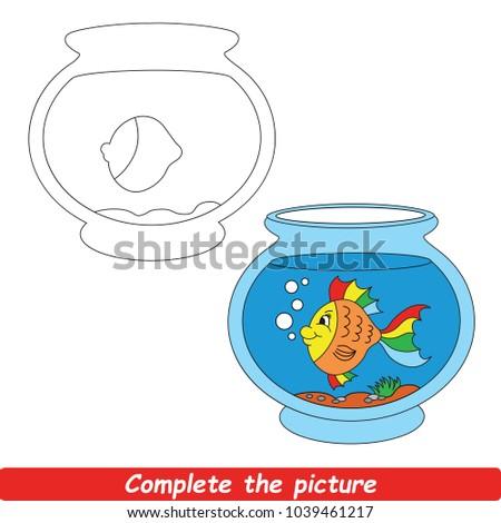 Drawing Worksheet Preschool Kids Easy Gaming Stock Vector 1039461217 ...