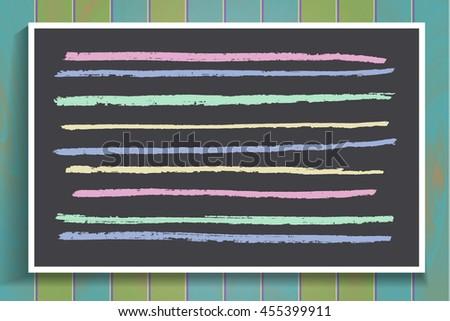 Drawings Chalk On Board, Vector Illustration. 10 eps - stock vector