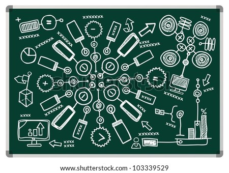 drawn infographics - stock vector