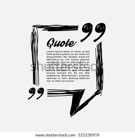 Drawn quotes and a frame - stock vector