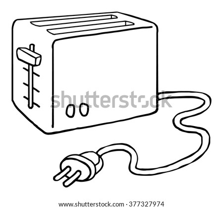 toaster clipart black and white. drawn toaster, isolated on white, vector illustration toaster clipart black and white