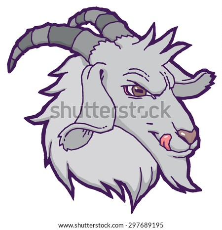 Drawn vector goat - hand drawing illustration