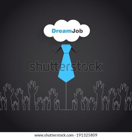 Dream job - conceptual logo eps10 illustration - stock vector