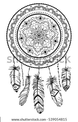 Hand Drawn Native American Indian Talisman Stock Vector