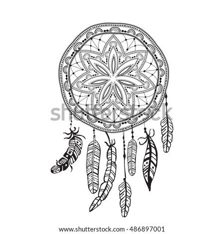 detailed dream catcher coloring pages - photo#39