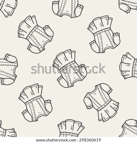 dress doodle seamless pattern background
