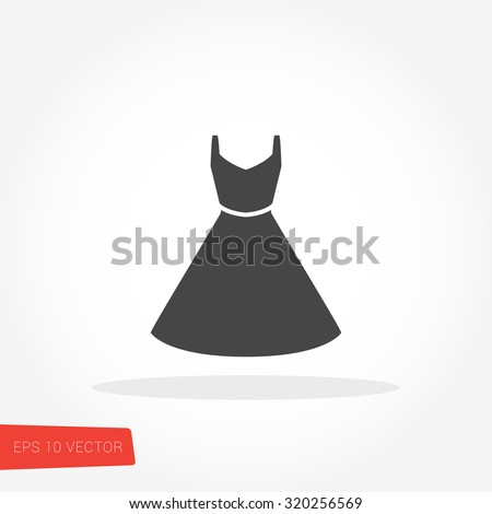 Dress Icon / Dress Icon Object / Dress Icon Picture / Dress Icon Drawing / Dress Icon Image / Dress Icon Graphic / Dress Icon Art / Dress Icon JPG / Dress Icon JPEG / Dress Icon EPS / Dress Icon AI - stock vector