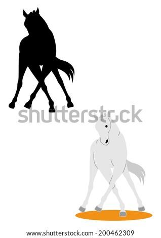 Dressage Horse Stock Vectors, Images & Vector Art | Shutterstock
