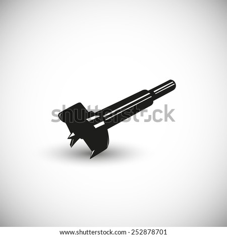 Drill bit illustration - 3d view design. - stock vector