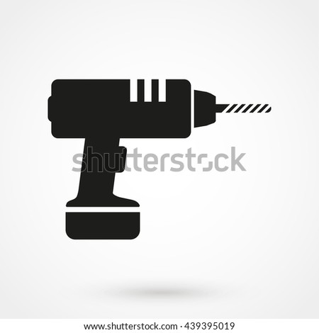 drill icon isolated on background. Modern flat pictogram, business, marketing, internet concept. Trendy Simple vector symbol for web site design or button to mobile app. Logo illustration - stock vector