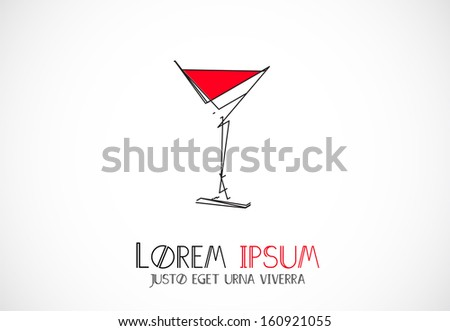Drink abstract icon template - stock vector