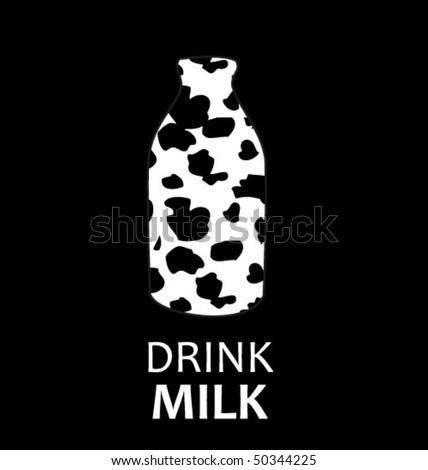 drink milk - creative poster - stock vector