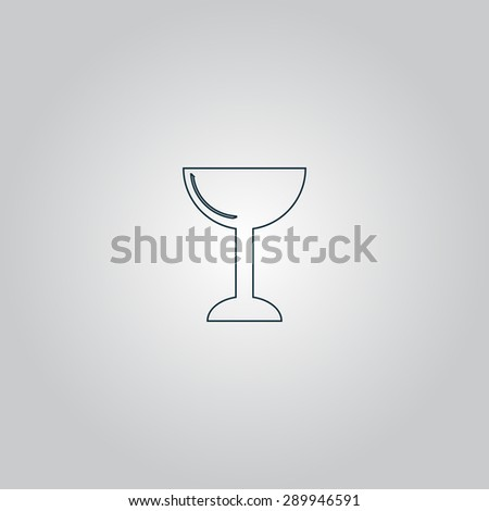 Drink - wineglass. Flat web icon or sign isolated on grey background. Collection modern trend concept design style vector illustration symbol - stock vector