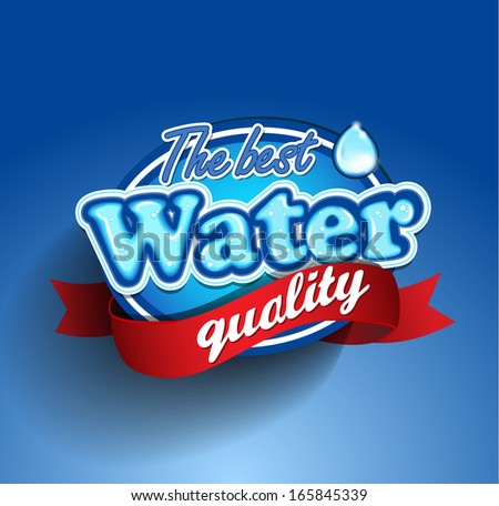 Drinking and Water Label vector - stock vector