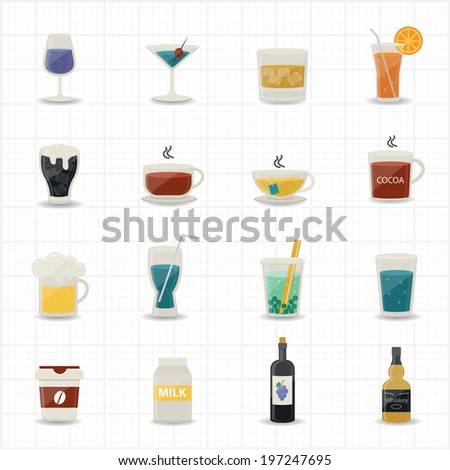 Drinking Icons - stock vector