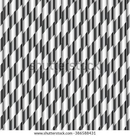 Drinking straws. Vector Seamless geometric pattern - stock vector