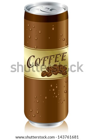 drinks coffee cans Vector - stock vector
