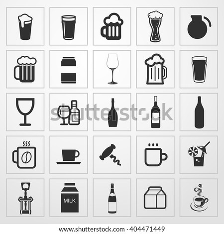 drinks Icon. drinks sign