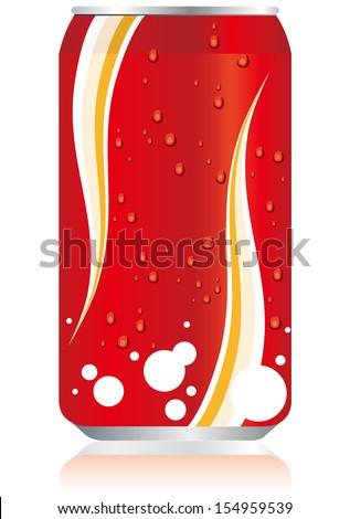 drinks juice cans Vector   - stock vector