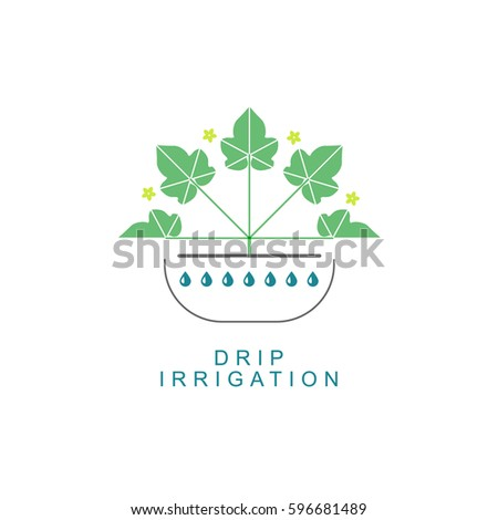 Drip Irrigation Stock Vectors Images Vector Art