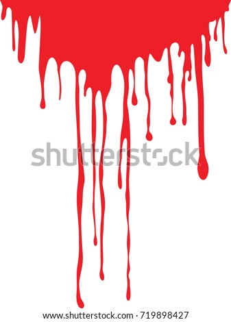 dripping blood isolated on white stock photo (photo, vector