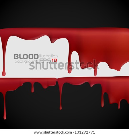 Dripping blood. Vector illustration. Eps 10. - stock vector