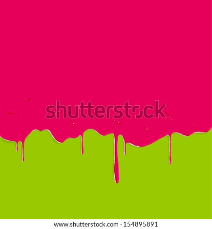 Dripping paint background, vector illustration - stock vector