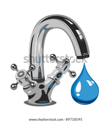 Dripping water, Vector  illustration