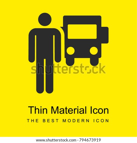 Driver bright yellow material minimal icon or logo design