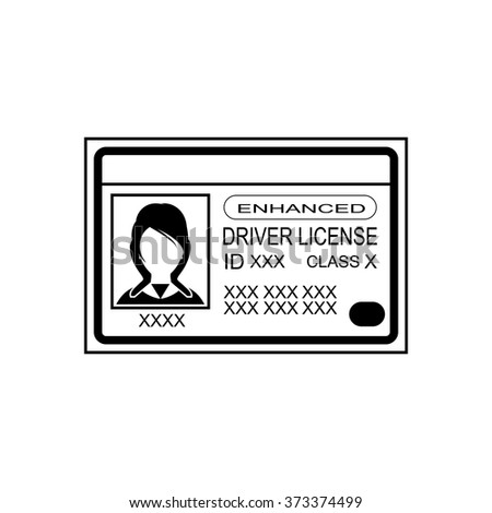 Driver license vector icon. - stock vector