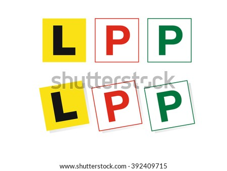Drivers plates - stock vector