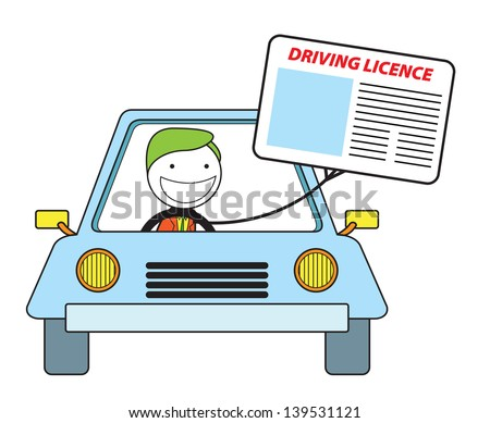 driving licence - stock vector