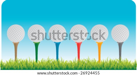 driving range - stock vector