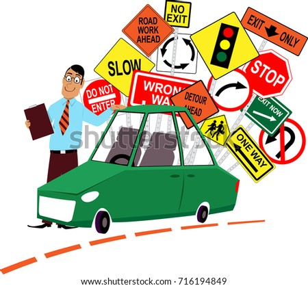 Driving To Work Clipart