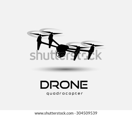drone quadrocopter - stock vector