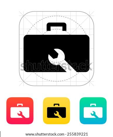 Drone repair kit box icon. Vector illustration. - stock vector