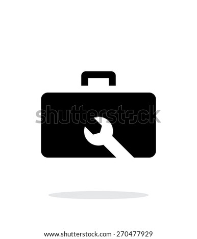 Drone repair kit box simple icon on white background. Vector illustration.