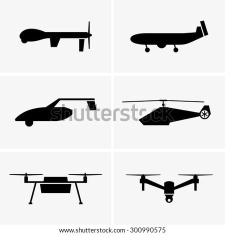Drones - stock vector