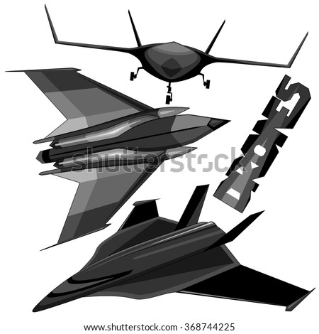 Drones Unmanned Aerial Vehicles  - stock vector