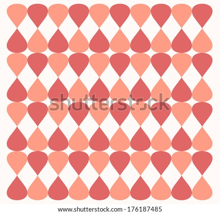Drop and rhombus background and texture - retro style - stock vector