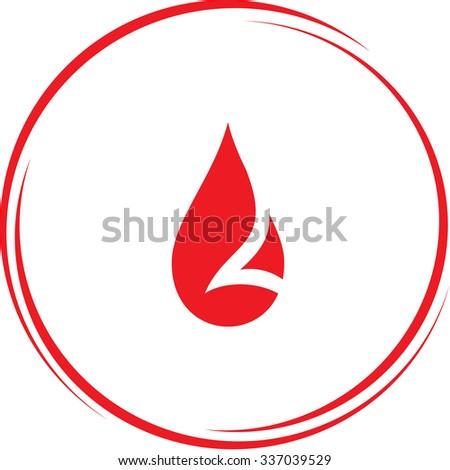 drop. Internet button. Vector icon. - stock vector
