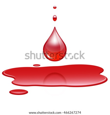 how to draw a puddle of blood