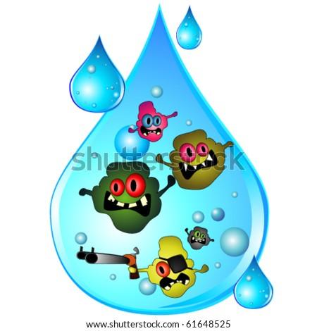 Drop of dirty water - stock vector