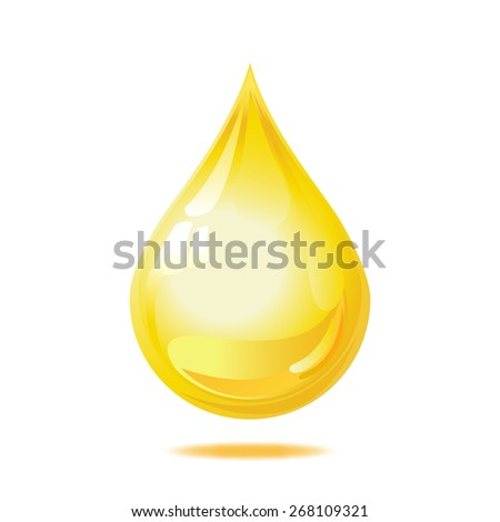 Drop of oil isolated on white background. Vector illustration - stock vector