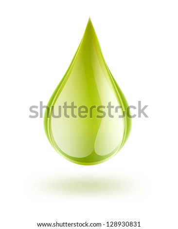 drop of petrol on white - stock vector