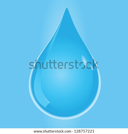 Drop of water - a symbol of life. Vector illustration.