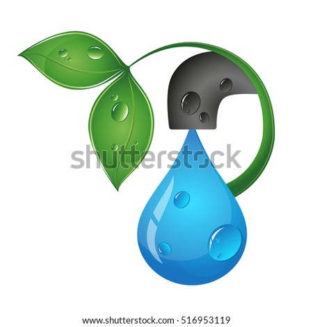 Drop of water from the tap eco design
