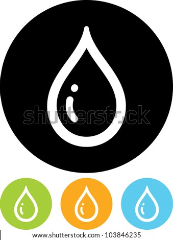 Drop of water - Vector icon isolated - stock vector