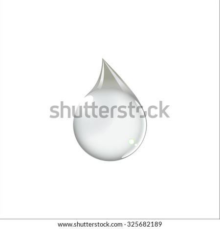 Drop of water - Vector icon isolated